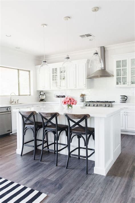 Kitchen Designs White Cabinets Wood Floors