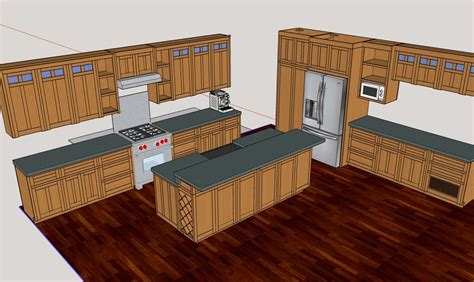 Kitchen cabinet design with sketchup Image