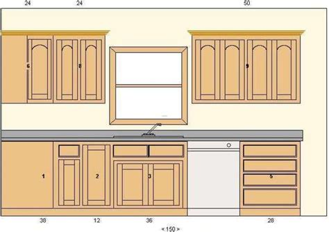 Kitchen Cabinet Drawing Plan
