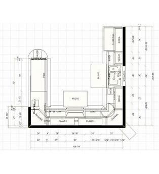 Kitchen Cabinet Floor Plan