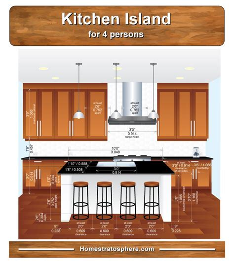 Kitchen Island Dimensions with Seating for 6