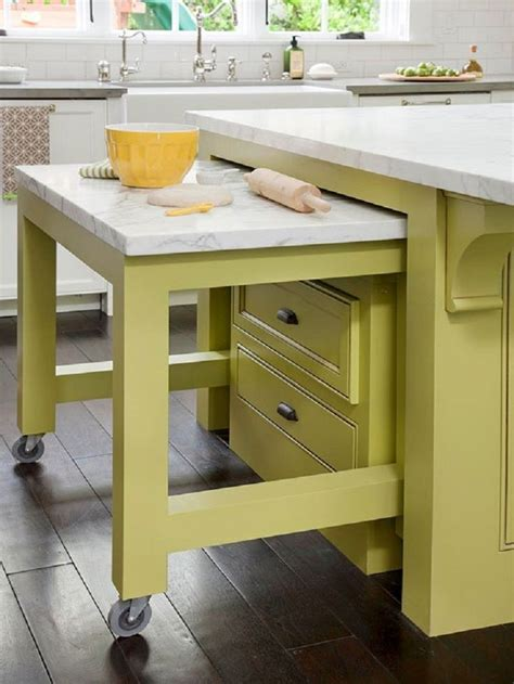 Kitchen Island On Wheels With Pull Out Shelf Image