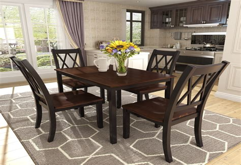 Kitchen wood table Image