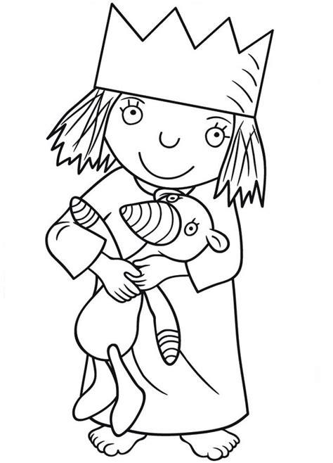 Kleine Prinzessin Malvorlage