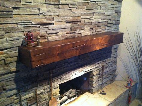 Knotty Alder Beam Fireplace Shelf Mantel
