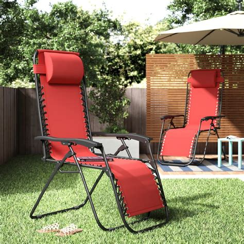 Koopman Décor Reclining/Folding Zero Gravity Chair (Set of 2)