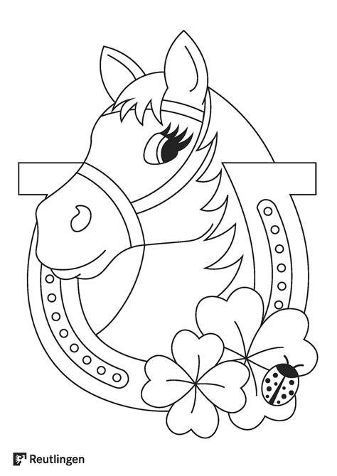 Kostenlose Malvorlage Pferd
