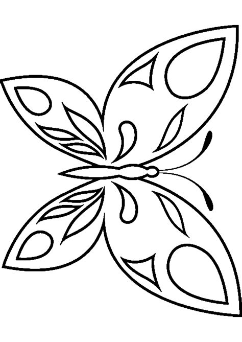 Kostenlose Malvorlage Schmetterling