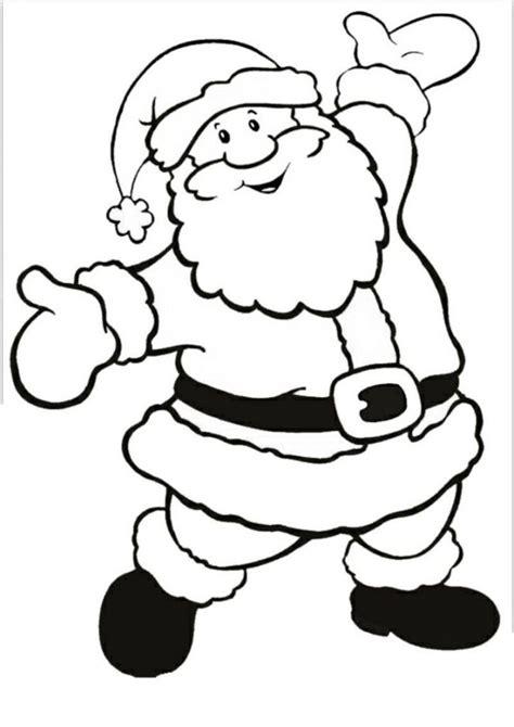 Kostenlose Malvorlage Weihnachtsmann