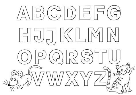 Kostenlose Malvorlagen Buchstaben