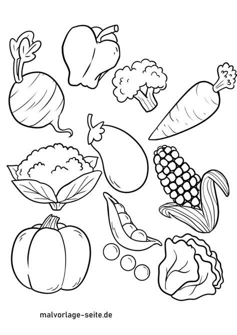 Kostenlose Malvorlagen Gemüse