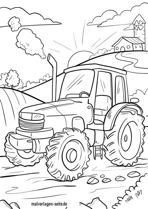 Kostenlose Malvorlagen Traktor