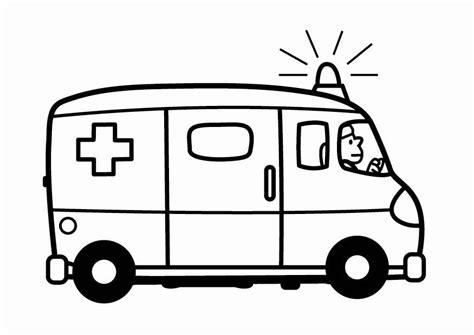 Krankenwagen Malvorlage