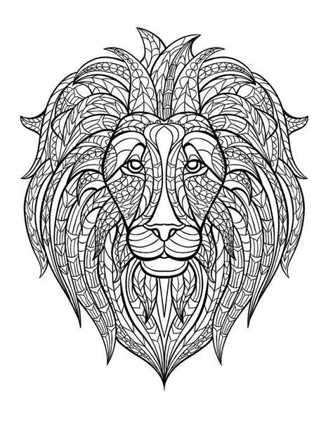 Löwe Ausmalbilder Für Erwachsene