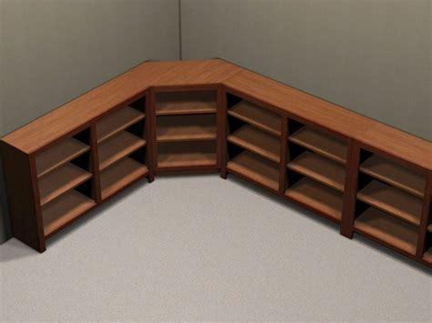 L shaped bookshelf table plans Image