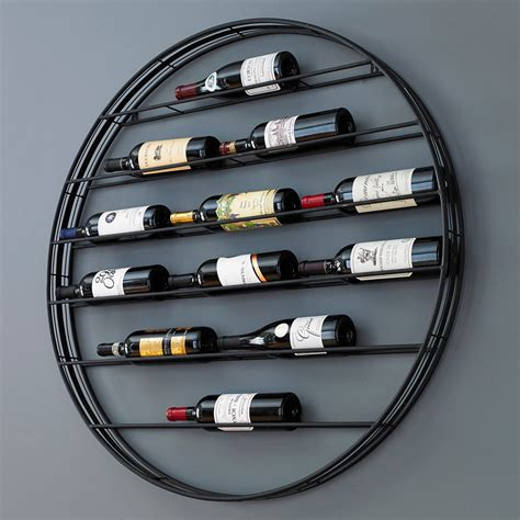 Label View 12 Bottle Wall Mounted Wine Rack