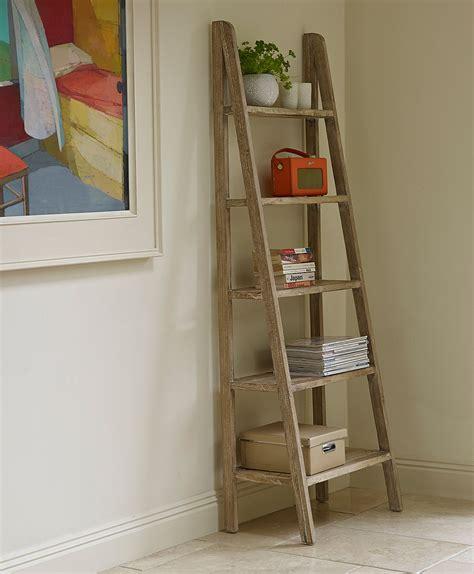 Ladder style shelving unit Image