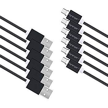 laddertek 6Packs[5th gen]Magnetic Phone Charger 3-in-1 Micro USB & Lightning & Type-C Data Syn Cord 3feet/1m Charging Cable for iOS & Android iPhone 5G/C/S/SE 6/6Plus/7/7Plus, iPad(silver)