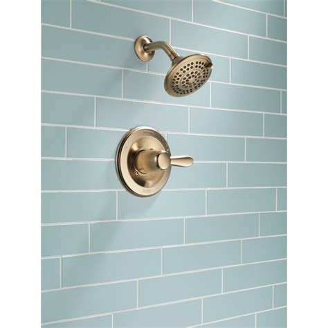 Lahara Pressure Balanced Shower Faucet Trim with Lever Handles and H2okinetic Technology