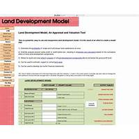 Compare land development model an appraisal & valuation tool