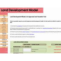 Land development model an appraisal & valuation tool bonus
