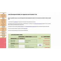 Land development model an appraisal & valuation tool guide