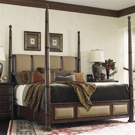 Landara Upholstered Four Poster Bed