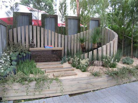 landscape timber fence Image