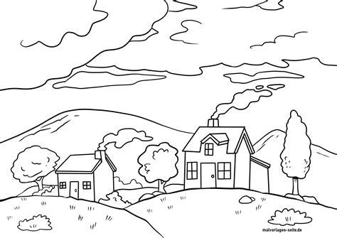 Landschaft Malvorlage