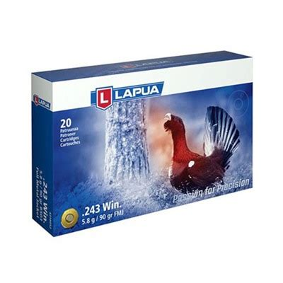 Lapua Sport Shooting Ammo 243 Winchester 90gr Fmj