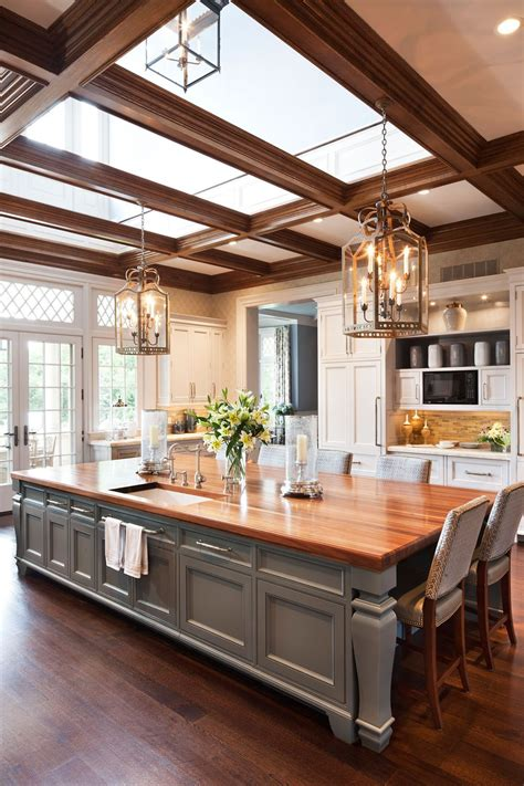 Large Kitchen Island Designs With Seating Image