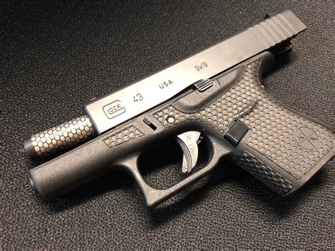 Laser Engraving Glock 43 And Night Sight Glock Made 43