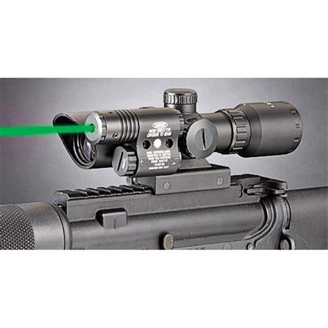 Rifle-Scopes Laser Rifle With Scope.