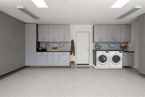 Laundry room in garage design Image