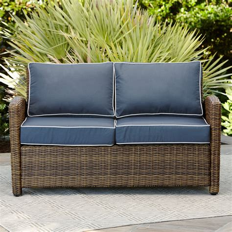 Lawson Wicker Loveseat with Cushions
