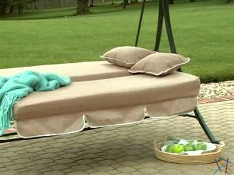 Lazy caye 3 person swing chair and bed cappuccino product review video Image