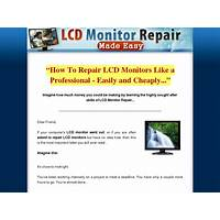 Lcd monitor repair made easy new hungry niche that works