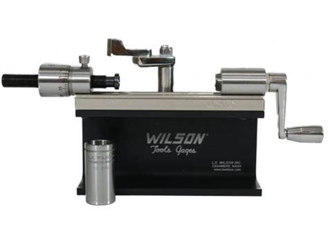Le Wilson Stainless Steel Micrometer Case Trimmer Stainless Case Trimmer With Micrometer Only