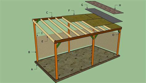 Lean to building plans Image