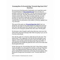 Learn how to freestyle rap, rap like a pro and write rap songs coupon code