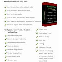 Best learn moroccan arabic with audio lessons