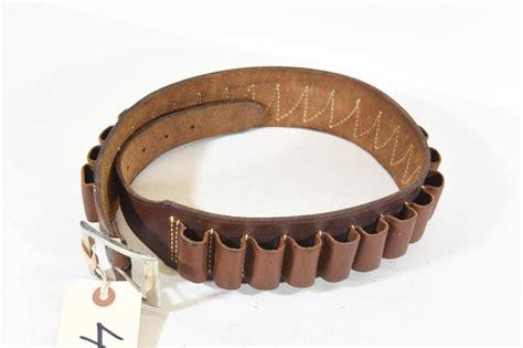 Leather 20 Gauge Shotgun Shell Belt