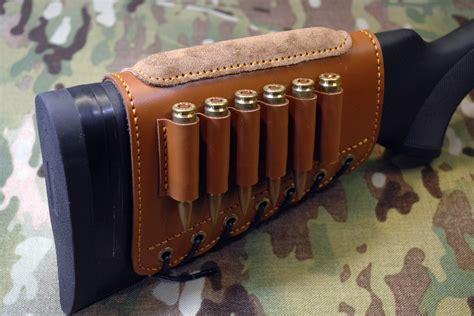 Leather Cartridge Holder Rifle Stock
