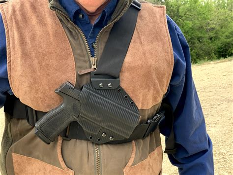 Leather Chest Holster For Glock 23