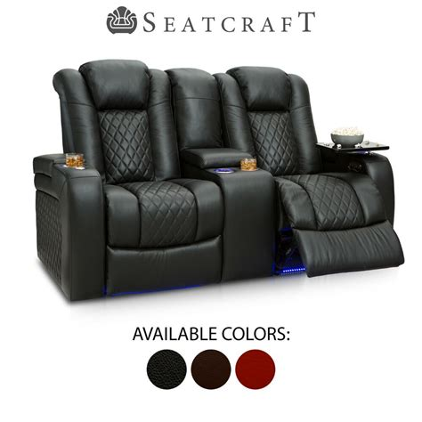 Leather Home Theater Loveseat