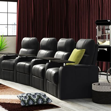 Leather Home Theater Recliner (Row of 4)