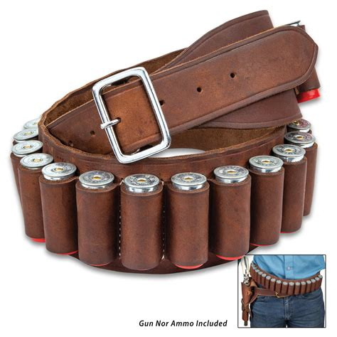Leather Shotgun Shell Ammo Belt