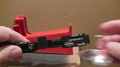 Lee Powder Scale Zeroing