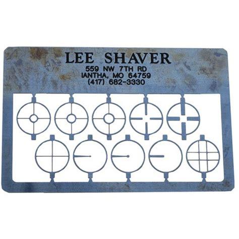 Lee Shaver Rifle Post Aperture Card Rifle Post Aperture Card Blue