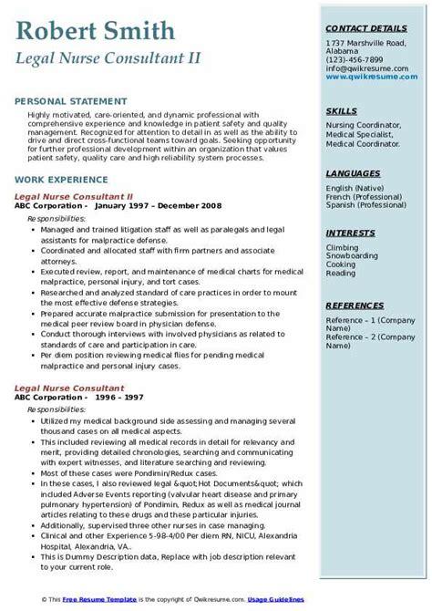 Legal Nurse Consultant Cover Letter Resume | Meeting Agenda ...